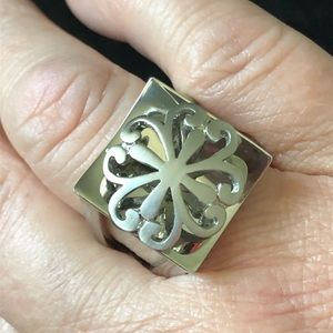 Steel By Design Square Stainless Steel Ring